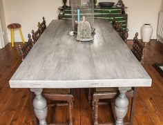 French Farmhouse Dining Table With A Twist