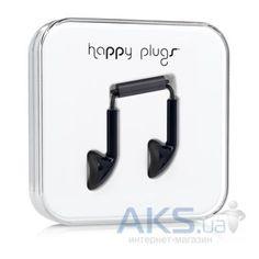 Наушники (гарнитура) Happy Plugs Headphones Earbud Black - фото