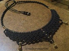 Eu Macramé #macramelove #micromacrame #artesanal #macramenecklace #joiaartesanal #joia #macramejewelry #madewithlove #inlove #black #necklace #colar #acessório #arte