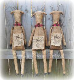 Santa's Reindeer epattern-NOT DoLL Crows Roost Prims image 1 Christmas Mesh Wreaths, Christmas Swags, Primitive Christmas, Rustic Christmas, Christmas Crafts, Christmas Ornaments, Antique Christmas, Christmas Decorations, Cowboy Christmas
