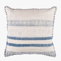 Our eye catching Lena Indigo Printed Pillow will add a global vibe to any space. This boho chic pillow is perfect with any decor.