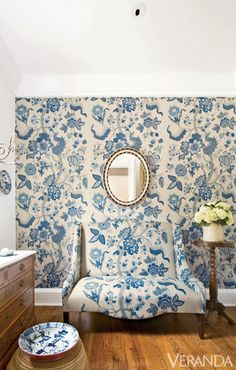 10 Fearlessly Floral Rooms - How to Decorate With Florals - Veranda