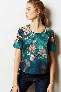 Lily Pond Tee - The design is gorgeous, but I'd love to see it on. Online exclusives are such a pain sometimes!