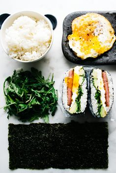Snack Time: Spam e Egg Onigirazu - Ricette Sane A Food, Good Food, Food And Drink, Yummy Food, Tasty, Sushi Recipes, Asian Recipes, Cooking Recipes, Healthy Recipes