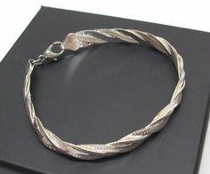Gepflochtenes Silberarmband 925 Armschmuck SA145 von Atelier Regina auf DaWanda.com