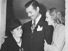 Carole's mother, Elizabeth Peters with Clark and Carole the day after their wedding 1939