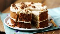 Coffee and walnut cake. This classic coffee and walnut cake is topped with an easy espresso-infused butter cream icing. Bbc Good Food Recipes, Sweet Recipes, Cake Recipes, Dessert Recipes, Food Cakes, Cupcake Cakes, Cupcakes, Coffee And Walnut Cake, Coffee Cake