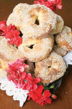 Σπιτικα κουλουρια Bagel, Bread, Recipes, Food, Brot, Recipies, Essen, Baking, Meals