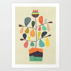 Potted+Plant+4+Art+Print+by+Budi+Kwan+-+$19.97