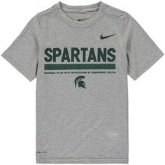 Michigan State Spartans Nike Youth Legend Staff Performance T-Shirt - Heathered Gray - $27.99