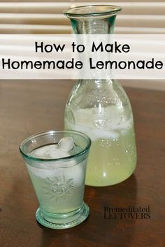 How to Make Lemonade with lemons. This delicious lemonade recipe is the perfect balance of sweet and tart. Tip for making perfect lemonade every time.