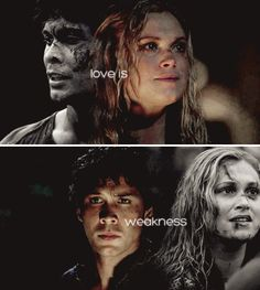 Or it's, you know, strength?! Seeing as it has gotten you this far. #Bellarke