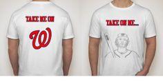 "Michael Morse ""Take on Me"" T-Shirt in Nats T-Shirts $19.00"
