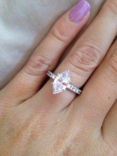 My 1.5 carat solitaire marquise diamond! My man did wonderful! ❤️
