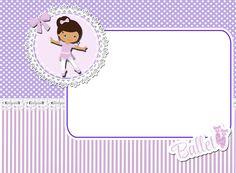"""Kit de Personalizados """"Bailarina Roxa"""" para Imprimir - CALLY'S DESIGN-Kits Personalizados Gratuitos"""