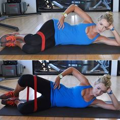 Attention runners! Get the best stretches for your IT band to feel loose and ready for race day. These are great for tight hips and knee pain after running or working out. Get out your foam roller and an elastic band to get the best stretch.