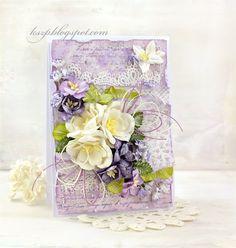 Białe i fioletowe kwiaty