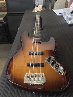 A JB in Old School Tobacco Sunburst over alder, pickguard delete, rosewood board, Clear Satin neck finish, no fretboard dots. I Love Bass, All About That Bass, Bass Guitars, Nyx, Pop Culture, Rock, Cool Stuff, Electric Guitars, Instruments