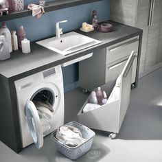Small utility room ideas - If your home isn't blessed with a massive area to clean and fold your garments don't fret. Every one of these room ideas-- with integrated storage pointers-- will aid you take advantage of what you do have. Small Utility Room, Storage, Home, Small Bathroom, Laundry Design, Bathroom Interior, Bathroom Cabinet Organization, Laundry In Bathroom, Room Design