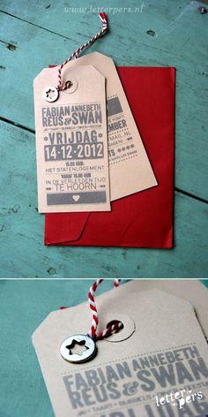Our wedding card thanks Letterpers for the design! letterpers_letterpress_trouwkaarten_labels_Annebeth