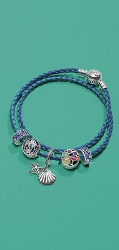 Versatile and chic, this genuine PANDORA leather wrap bracelet boasts subtle stripes in blue hues. Stunning worn on its own or with your favourite charms, this bracelet will add a vibrant splash of colour to your summer style – and bring a relaxed, edgy vibe to any look.