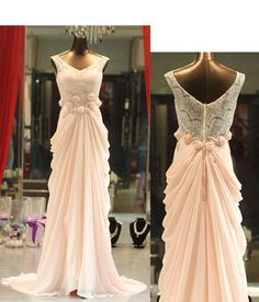 Long prom dress Lace prom dress Backless prom by DressStories, $169.00