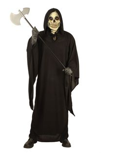For a fun party try Grim Reaper-Homespun Costume. Trending options for Spooky & Horror Costumes for Halloween at PartyBell. Adult Costumes, Halloween Costumes, Spooky Halloween, Skeleton Costumes, Halloween Night, Funny Halloween, Grim Reaper Costume, Halloween Blocks, Costume Collection