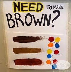 How to make brown paint. This is a life saver. Art Tutorials, Drawing Tutorials, Drawing Tips, Cute Canvas Paintings, Small Canvas Art, Mini Canvas Art, Canvas Painting Designs, Disney Canvas Art, Canvas Painting Tutorials