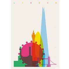 Yoni Alter - London Unframed Print, 30 x 24cm