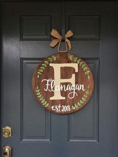 Door Hanger Fixer Upper Sign, Spring Door Hanger Spring Door Decor Farmhouse Wood Sign Family Name Sign Farmhouse Decor Family Sign