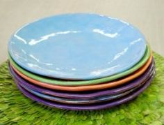 """Dinner Plate, 10"""" Made locally in Athens, Georgia. The appropriate colors will be chosen according to the registrant's choices"""