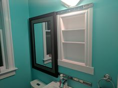 Post with 1919 votes and 175235 views. Shared by torvik. I made a recessed medicine cabinet hidden behind a sliding mirror (idea stolen from u/Zealotnic on r/DIY) Bathroom Mirrors Diy, Bathroom Makeover, Bathroom Cabinets Diy, Sliding Mirror, Hidden Medicine Cabinet, Bathroom Design, Bathroom Mirror Makeover, Medicine Cabinet Mirror, Old Medicine Cabinets