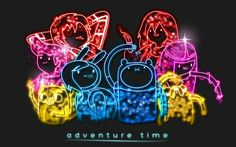 Neon Adventure Time - Adventure Time With Finn and Jake Wallpaper . Adventure Time Wallpaper, Adventure Time Art, Day Off Quotes, Finn The Human, Jake The Dogs, Cool Backgrounds, Ghibli, Neon Signs, Deviantart