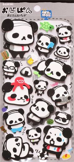 panda bear foam rubber sponge stickers Q-Lia Japa