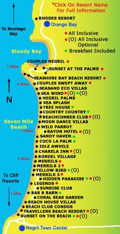 beaches resorts locations