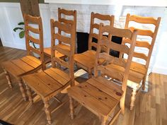 Vintage 80s Farmhouse Ladder Back Dining by SophiesChoiceVintage