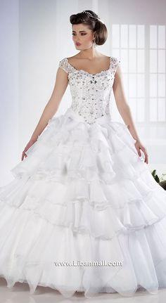 princess wedding dress from Khairieh Mahfouz Girls Dresses, Flower Girl Dresses, Princess Wedding, Bride, Disney Princess, Wedding Dresses, Fashion, Dresses Of Girls, Wedding Bride