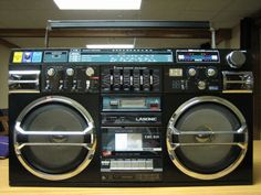 You weren't a part of the 80s unless you had a ghetto blaster, and while the racial slur may not be acceptable in today's tree-hugging ways, the Lasonic TRC-931 made you 'gangsta' before the term was even coined. Those from school will remember me dragging this beast in every day, complete with 10 x D-size batteries (!!!) to play my Floyd, Purple, and at times even Tiffany...hell, I even used it as an amp for my electric guitar (see Vester Strat)...the photo does not do it justice. *sigh*