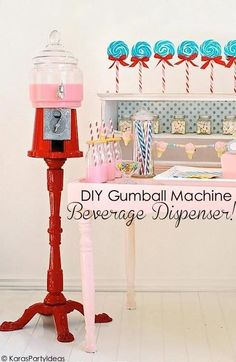 How adorable is this gumball machine drink dispenser? What guests wouldn't love to get their drink from an adorable vintage gumball machine at your next party? Follow along as eBay shares the easy steps to make one for yourself!