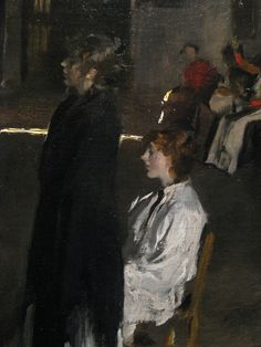 John Singer Sargent (USA, - A Venetian Interior, detail - c. - Oil on canvas - Sterling and Francine Clark Art Institute - Williamstown, MA Traditional Paintings, Traditional Art, Figure Painting, Painting & Drawing, Sargent Art, American Impressionism, Art Rules, Paris, American Artists