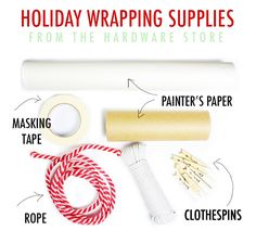 alisaburke: holiday wrapping from the hardware store