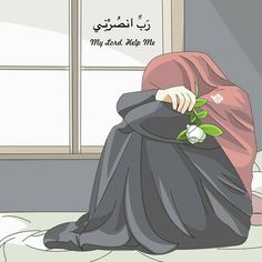 My lord please Take this pain away.You know what is wrong with me and I need you very much .My lord help me 😢 . Cute Muslim Couples, Muslim Girls, Girl Cartoon, Cartoon Art, Cute Cartoon, Islamic Pictures, Islamic Images, Cover Wattpad, Muslim Images