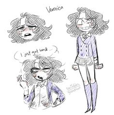 Veronica by Galactibun Eyes Drawing Tumblr, Theatre Nerds, Theater, Musical Theatre, Character Art, Character Design, Heathers The Musical, Fandoms, Fan Art