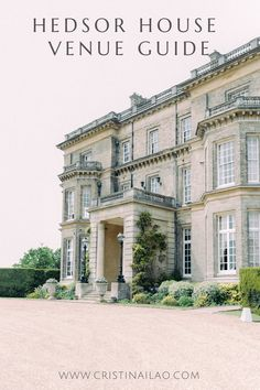 grand entrance to English country home