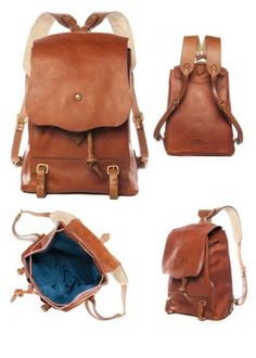 leather backpack with lining