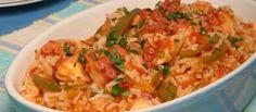 Arroz de polvo com pimentos - TeleCulinária Receitas de Culinária - TeleCulinária Receitas de Culinária