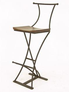 Chaise de bar - Meuble fer forgé