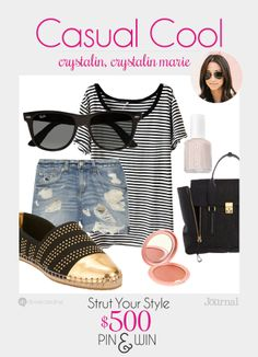 CASUAL COOL: Channel the girl next door with a hint of tomboyish charm. This outfit looks put together, but like you didn't try too hard. Don't forget to enter to win $500 at divinecaroline.com/strut-your-style