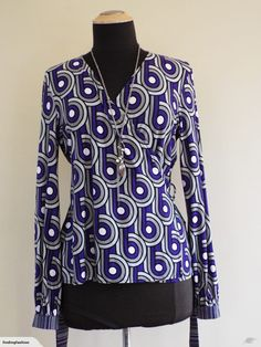 Howard Showers | Purple & Grey Print Wrap Top (12) | Trade Me Fashion Terms, Enlarge Photos, Long Ties, Close Up Photos, Print Wrap, Purple Grey, Wrap Style, Shades Of Grey, Showers