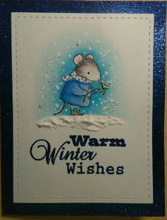 Harvest Mouse by My Favorite Things #mftstamps.com. Change colours and now he is a little winter mouse!